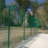 Строительство секционного ограждения высотой от 2,4 м до 4 м с бетонированием столбов, наконечником и сеткой