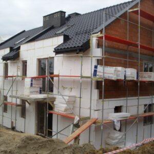 Утепление фасада пенопластом 150 мм (декор- структурная краска)