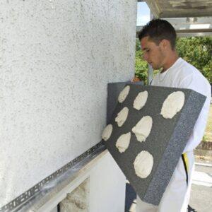 Утепление фасада экструдером 50 мм (без финишного покрытия)