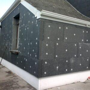 Фасадное утепление экструдером 100 мм (без финишного покрытия)