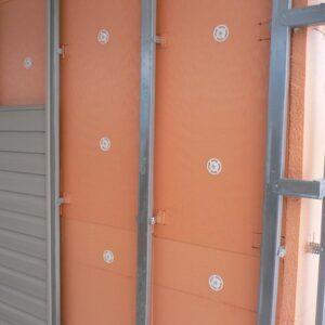 Фасадное утепление экструдером 100 мм (декор: тонированная штукатурка)