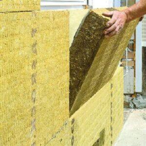 Работы по утеплению фасада минеральной ватой 50 мм (без финишного покрытия)