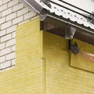 Утепление фасада минеральной ватой 50 мм (декор- структурная краска)