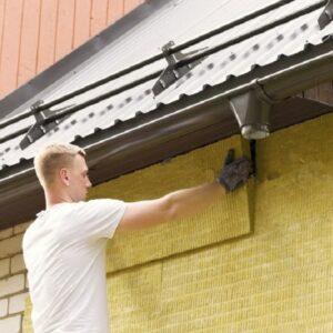 Фасадное утепление минеральной ватой 50 мм (декор: минеральная штукатурка+ краска)