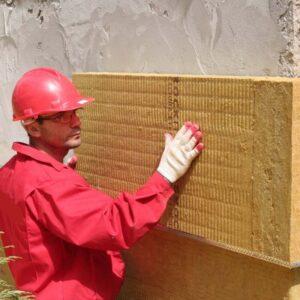Фасадное утепление минеральной ватой 150 мм (без финишного покрытия)