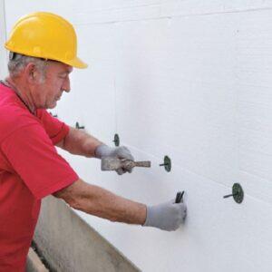 Работы по утеплению фасада пенопластом 50 мм (декор: минеральная штукатурка+ краска)
