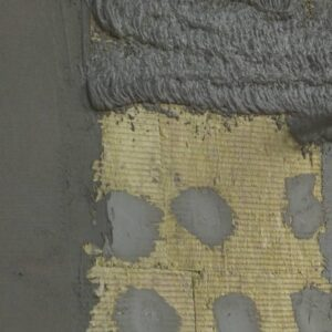 Работы по утеплению фасада минеральной ватой 150 мм (декор- структурная краска)