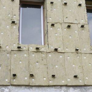 Фасадное утепление минеральной ватой 150 мм (декор: тонированная штукатурка)