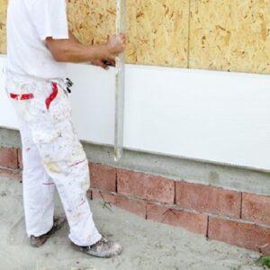 Утепление фасада пенопластом 50 мм (декор: тонированная штукатурка)