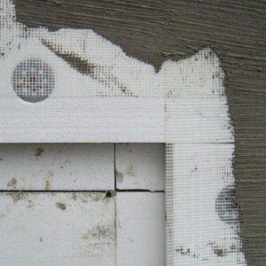 Фасадное утепление пенопластом 100 мм (без финишного покрытия)