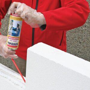 Работы по утеплению фасада пенопластом 100 мм (декор- структурная краска)