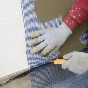 Утепление фасада пенопластом 100 мм (декор: минеральная штукатурка+ краска)