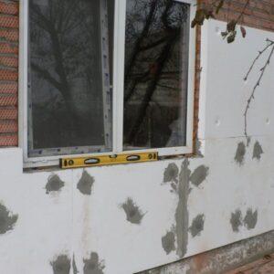 Фасадное утепление пенопластом 100 мм (декор: тонированная штукатурка)