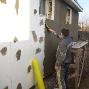 Работы по утеплению фасада пенопластом 150 мм (без финишного покрытия)