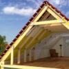 Монтаж металлочерепицы – сложная крыша (металл и планки) 23386