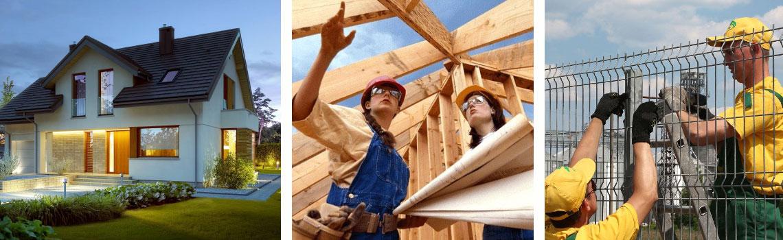 строительство домов, коттеджей, крыш, заборов