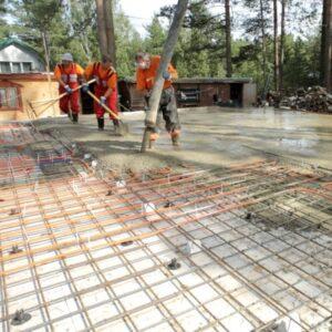 Строительство монолитного плитного фундамента