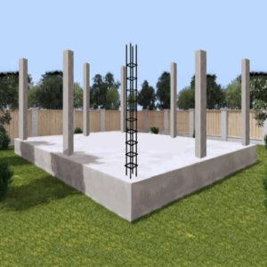 Монтаж монолитных колон сечением 250х250 мм