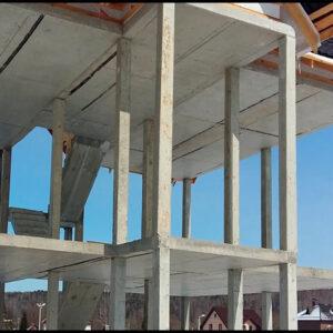 Строительство монолитных колон сечением 600х600 мм